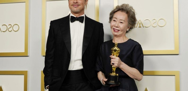 Oscar Winner Yuh-Jung Youn Shut Down a Reporter Who Asked Her What Brad Pitt Smelled Like
