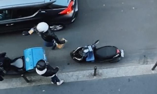 Paris woman orders food from a restaurant across the street