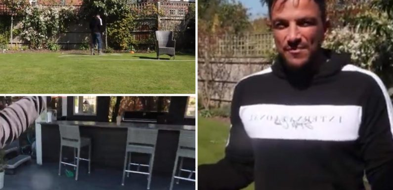 Peter Andre shows off stunning garden with bar, BBQ and perfectly neat lawn – The Sun