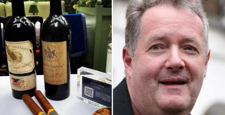 Piers Morgan boasts he's drinking £1,300 bottle of wine made during first World World War on 'London pandemic soiree'