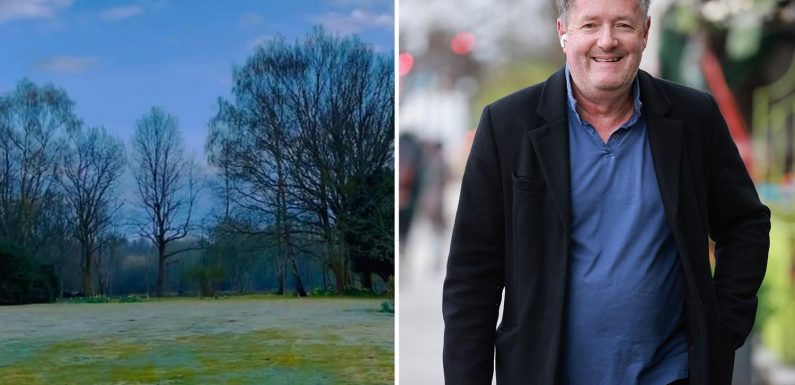 Piers Morgan returns to his incredible East Sussex mansion and shows off huge garden after lockdown restrictions lift