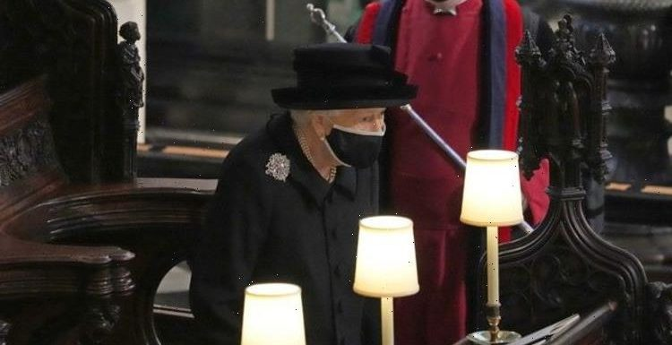 Queen wears special Richmond Brooch from Queen Mary as she attends Prince Philip's funeral