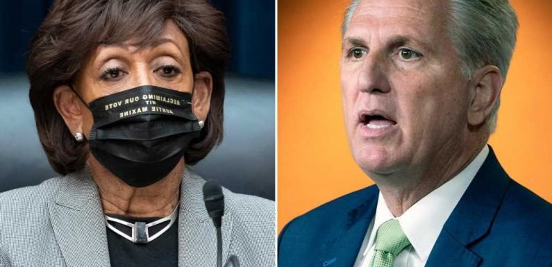 Rep. McCarthy believes he can get 15 Dem votes to censure Maxine Waters