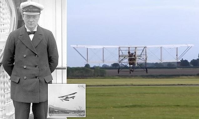 Replica of seaplane championed by Churchill in 1911 takes to the skies