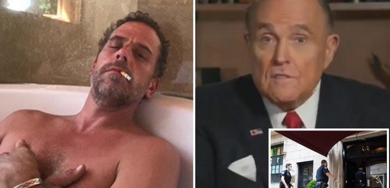 Rudy Giuliani claims FBI turned down Hunter Biden's hard-drives THREE TIMES in raid despite taking all other electronics