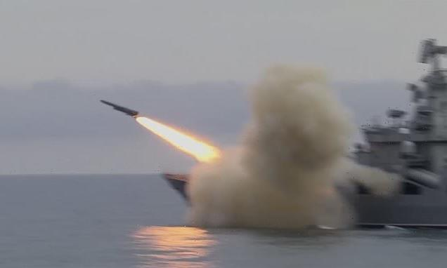 Russian warship fires supersonic cruise missile in Black Sea exercise