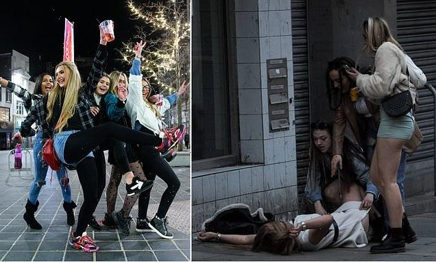 Saturday night live! Revellers hit town for big weekend since lockdown