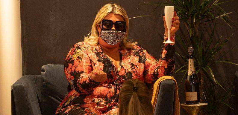 Self-proclaimed diva Gemma Collins sips Champagne as she enjoys first pamper session after lockdown