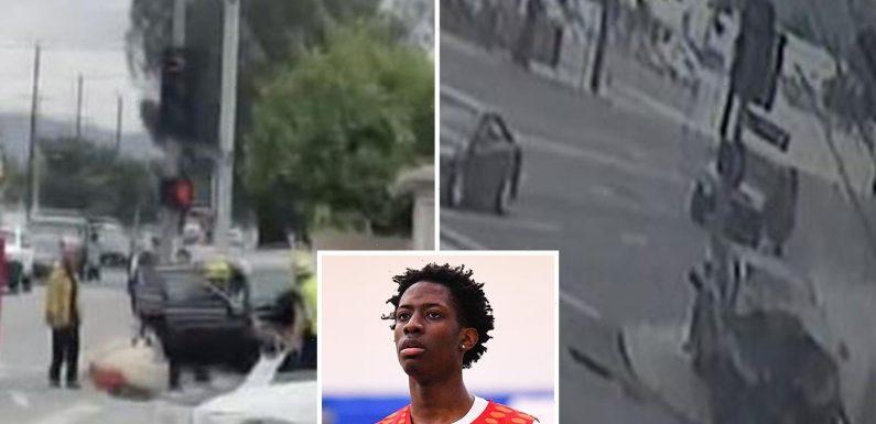 Shock moment Terrence Clarke's car smashes into wall in tragic crash killing Kentucky basketball star, 19