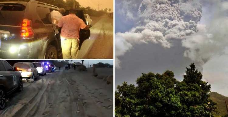 St Vincent residents who haven't had Covid vaccine BANNED from evacuated after two massive volcano eruptions, PM says