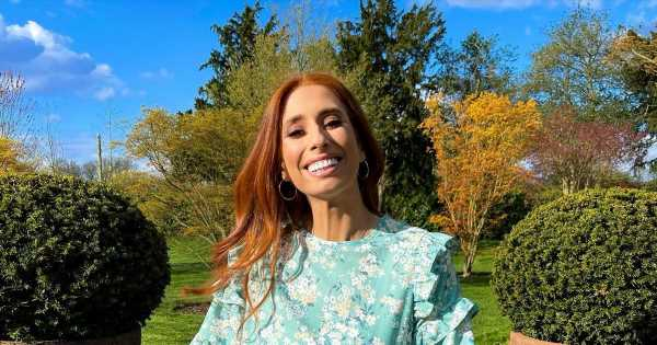 Stacey Solomon breaks down in tears as her boys read to her in the huge garden of their Essex home
