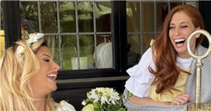 Stacey Solomon laughs as she admits declining parenting standards when compared to Mrs Hinch after playdate