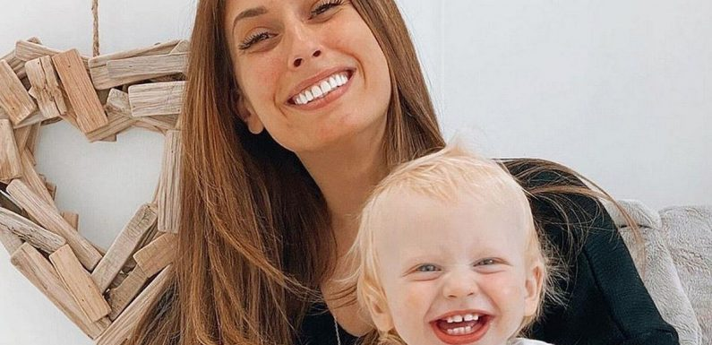 Stacey Solomon shares incredible DIY transformation of fireplace in son Rex's new room