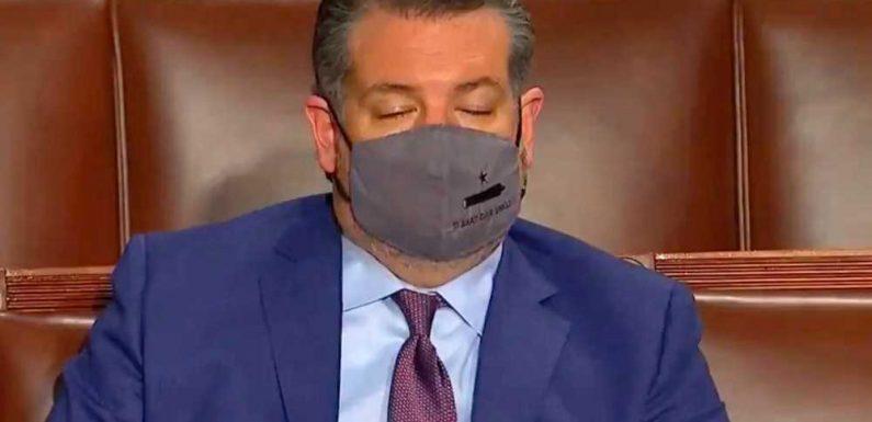Ted Cruz caught 'falling asleep' during President Biden's speech to Congress