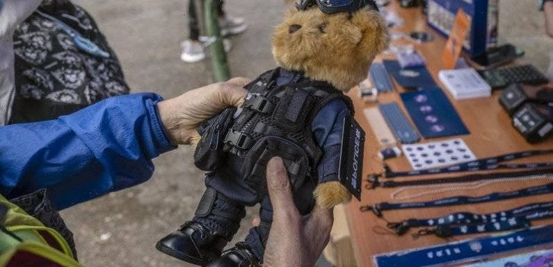 Teddy bears and figurines in riot gear: How China is hoping to convince Hongkongers of need for tough law