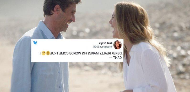 These Tweets About Meredith & Derek's 'Grey's Anatomy' Beach Wedding Are Too Much