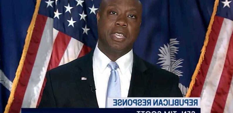 Tim Scott in GOP response to Biden: 'Hear me clearly — America is not a racist country'