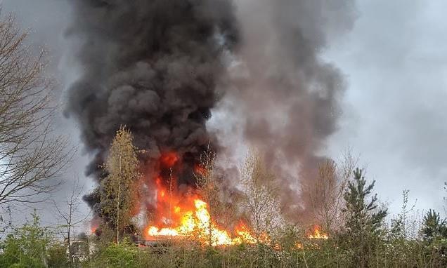 Train fire: Huge blaze breaks out near Sevenoaks in Kent