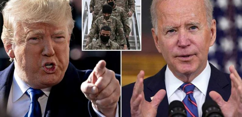 Trump blasts Biden plan to withdraw from Afghanistan