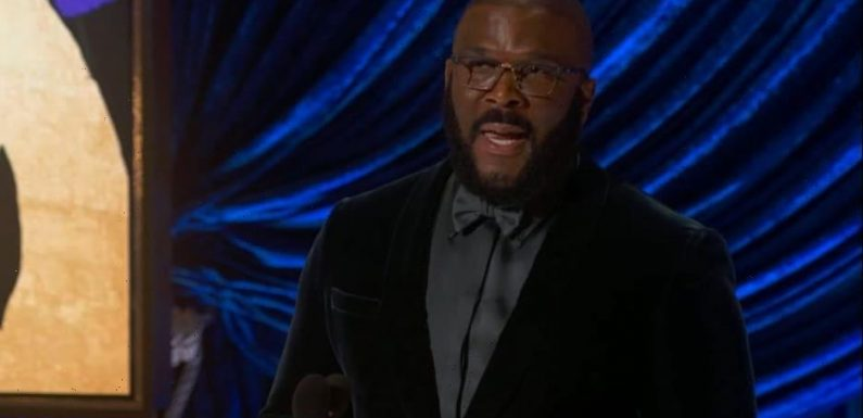 Tyler Perry Gets Standing Ovation for Inspiring Oscar Speech: 'Refuse Hate' (Video)