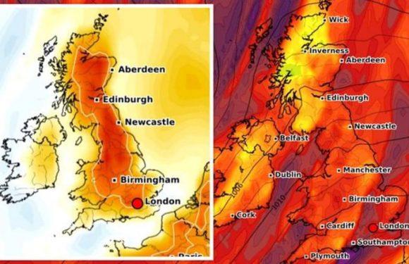 UK hot weather forecast: Sweltering 21C sub-tropical heat to blast UK –new long-range maps