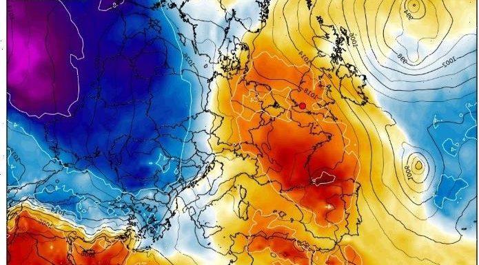 UK weather – Spanish plume to bring 25C heatwave as new maps turn the whole of Britain ORANGE