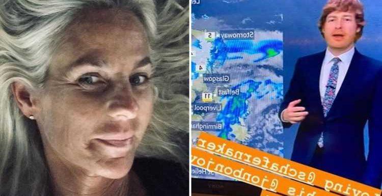 Ulrika Jonsson flirts with BBC weatherman Tomasz Schafernaker as she praises his '70's pornstar hair' on Instagram