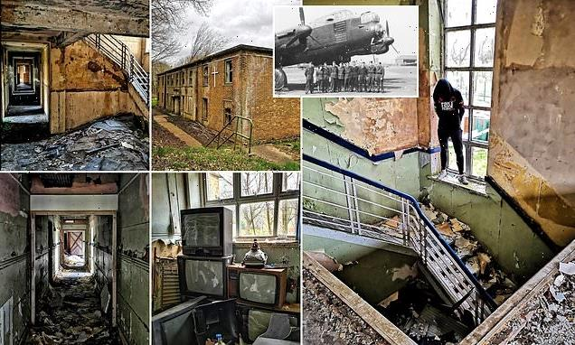 Urban explorer searches derelict ex-RAF Bomber Command station