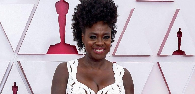 Viola Davis Wows in Regal White Gown at 2021 Oscars
