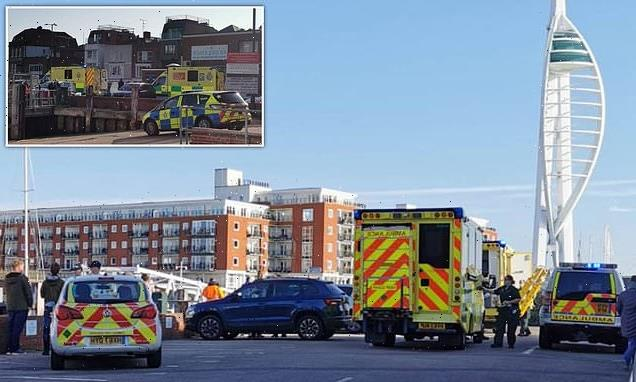 Woman dies after being pulled from the water in Portsmouth harbour