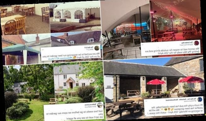 Top beer gardens are revealed as landlords set up marquees and tents