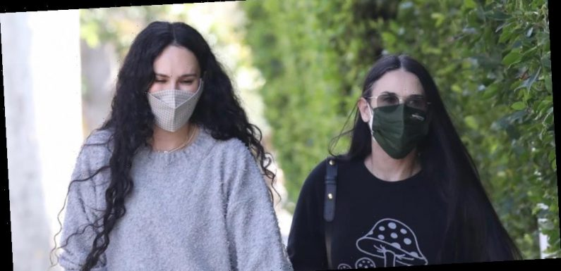 Demi Moore Gets In A Workout With Daughter Rumer Willis