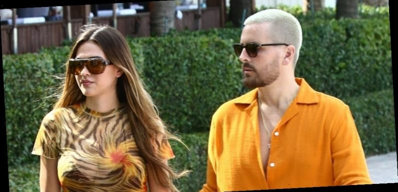 Scott Disick & Amelia Hamlin Switch Up Their Looks To Shop at Chrome Hearts in Miami