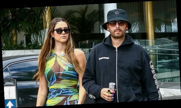 Amelia Hamlin Rocks Sequined Bikini & Sexy Sheer Cover-Up With Scott Disick In Miami