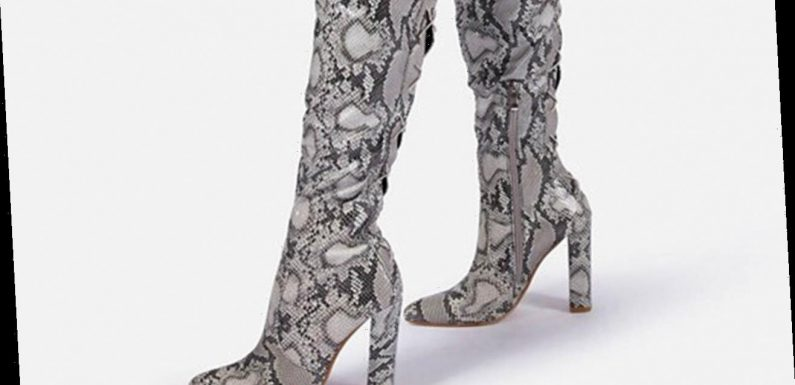 Thigh-High Snakeskin Boots You Can Shop Now