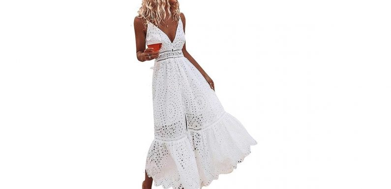 Kick Off Summer Off With a Bang in This Ethereal White Maxi Dress