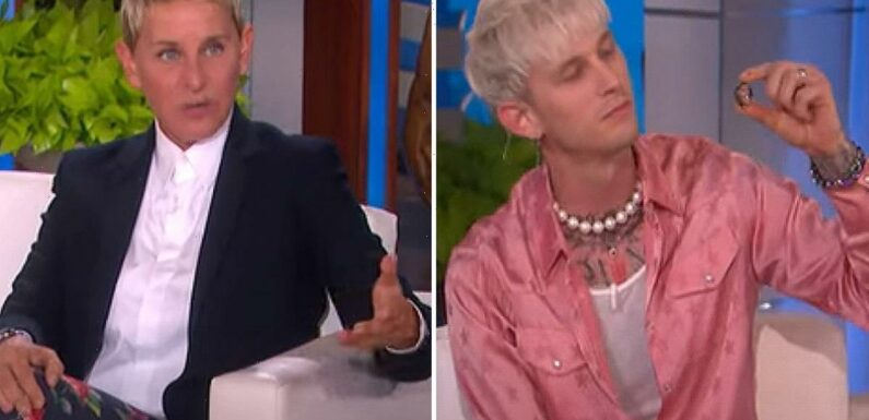 Machine Gun Kelly shows off vial of Megan Fox's BLOOD to Ellen DeGeneres and boasts actress 'gave him her DNA' as gift