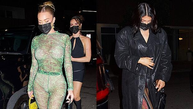 Stassie Karanikolaou Stuns In Full Sheer Lime Bodysuit For Dinner With BFF Kylie Jenner — See Pics