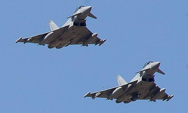 Two RAF Typhoons swoop in and bomb Islamic State jihadis in Iraq