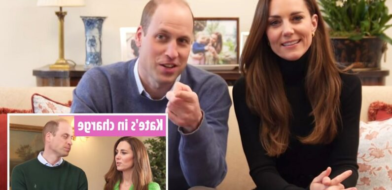 'Leader' Kate Middleton flatters Prince William to 'boost his confidence' in YouTube video, says body language expert