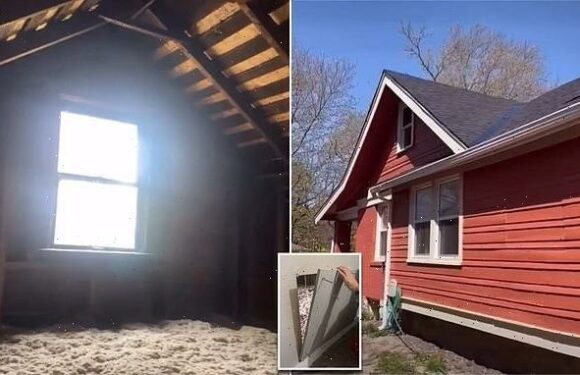 Couple finds hidden attic in new house