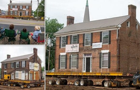Historic 172-year-old house is moved to save it from the wrecking ball