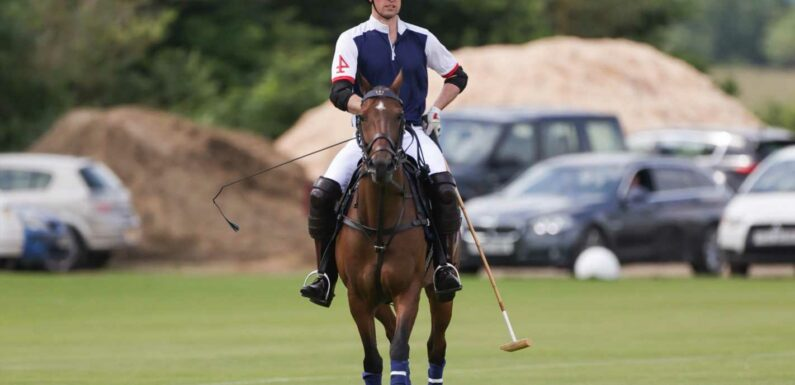 Prince William takes part in charity polo tournament in Windsor as Kate Middleton is isolation