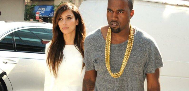 Kim Kardashian Rocks Black Bondage-Style Outfit While Attending Kanye West's 'Donda' Listening Party