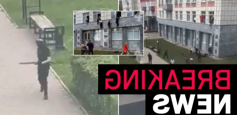 'Three dead in shooting at Russian university' as students climb out of windows
