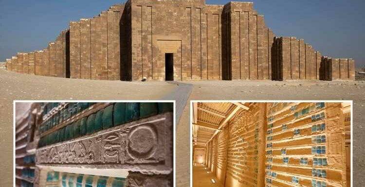 Ancient tomb of Egyptian King Djoser opened 4,500 YEARS after burial – revealing stunning chambers