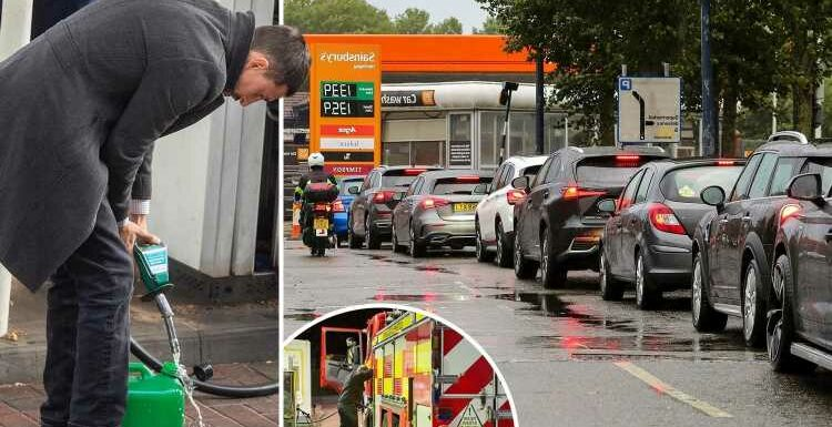 Boris Johnson may call in Army and rip up competition laws to end petrol panic TODAY as chaos could last another WEEK