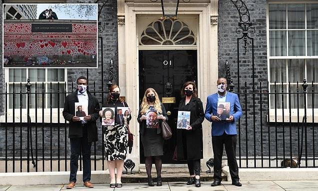 Boris Johnson meets members of the Covid-19 Bereaved Families group