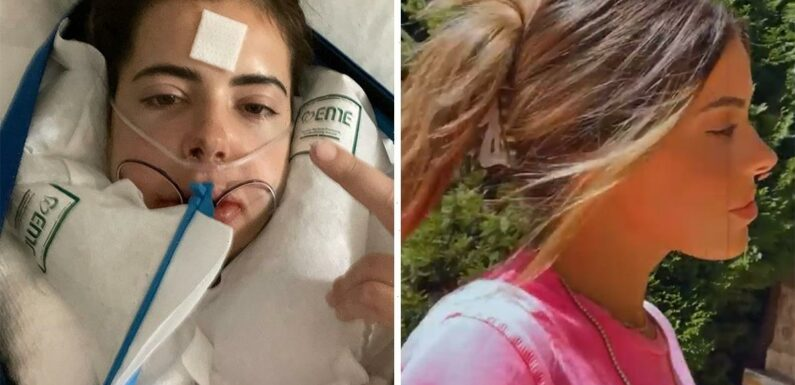 Brielle Biermann shows off her 'side profile' in a new clip after having double jaw surgery & sharing shocking pics