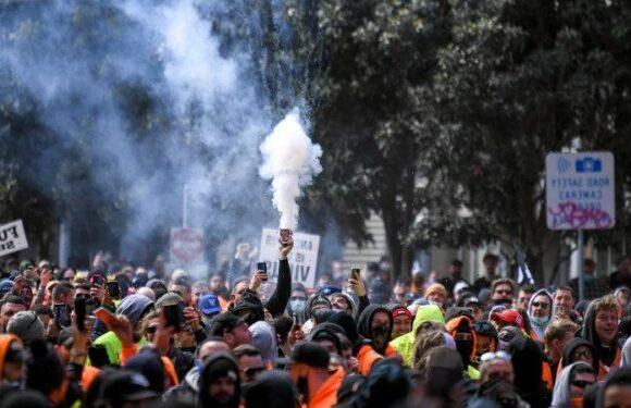 Daniel Andrews condemns 'pretend protesters' in Melbourne